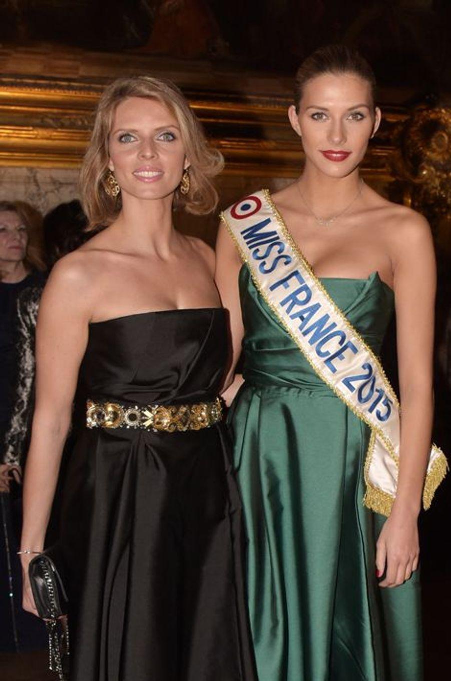 Sylvie Tellier et Camille Cerf à Versailles le 19 mars 2015