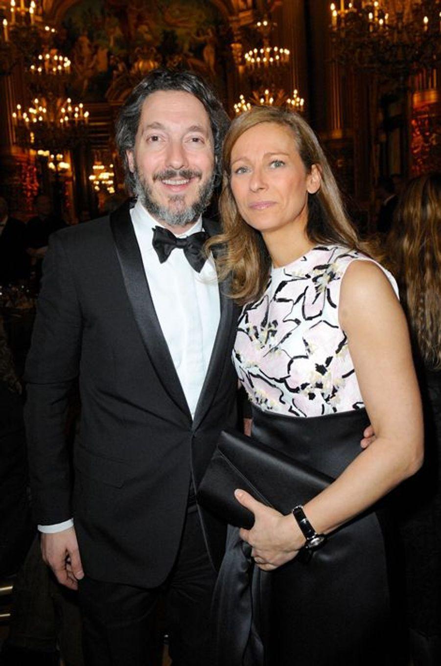 Guillaume Gallienne et Anne Gravoin à Paris le 12 janvier 2014