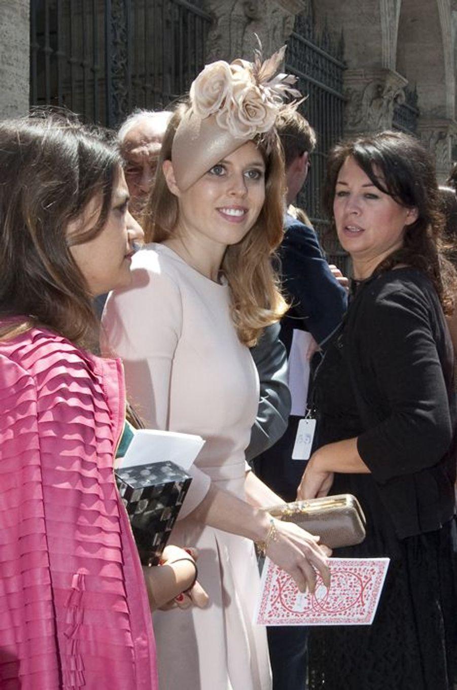 La princesse Beatrice d'York au mariage de Joseph Getty et Sabine Ghanem à Rome