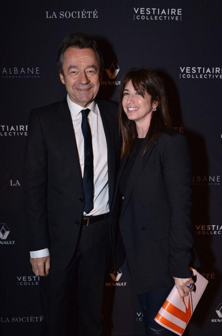 Michel Denisot et Albane Cleret à Paris le 5 février 2015