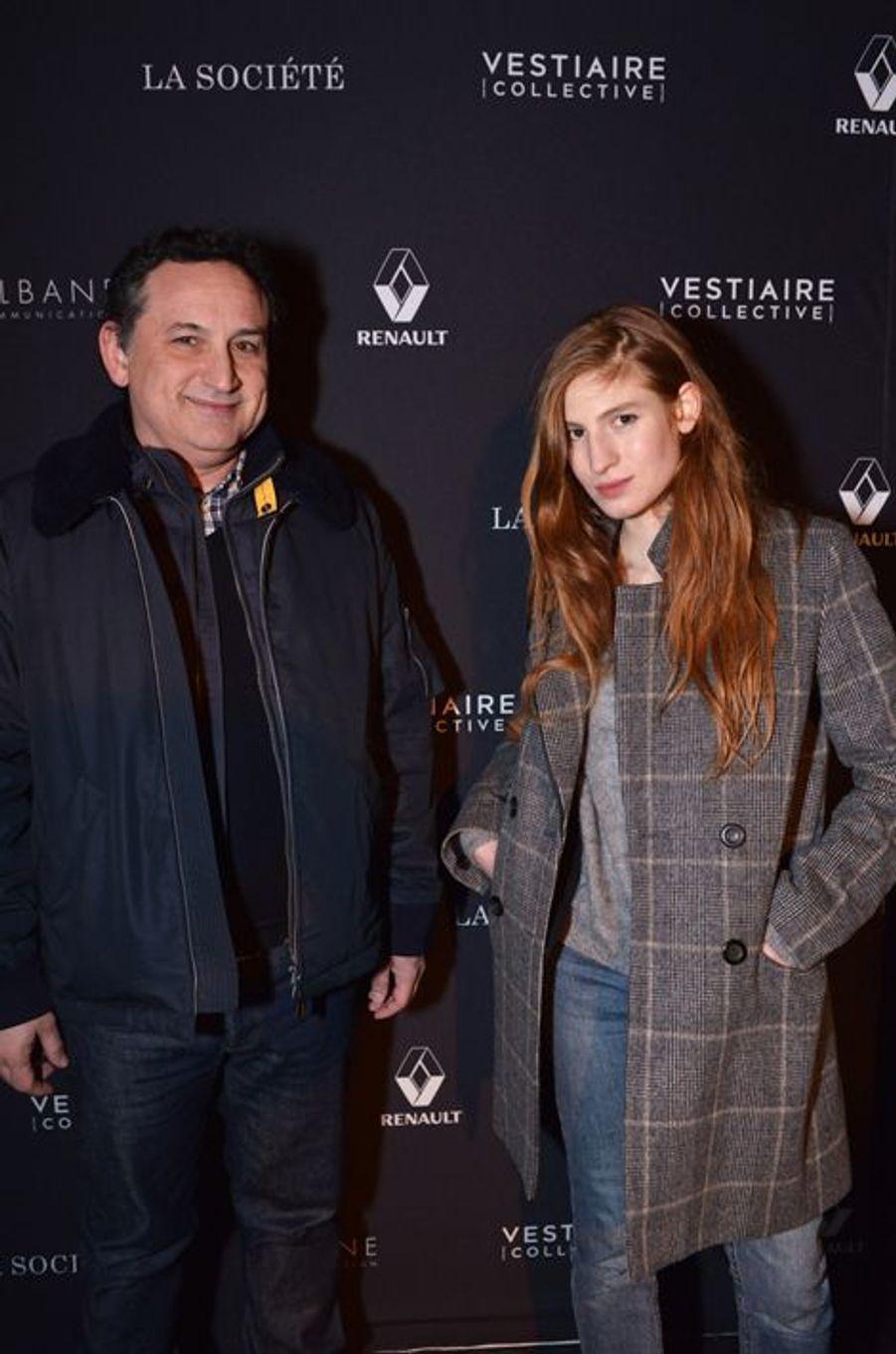 Thierry Klifa et Agathe Bonitzer à Paris le 5 février 2015