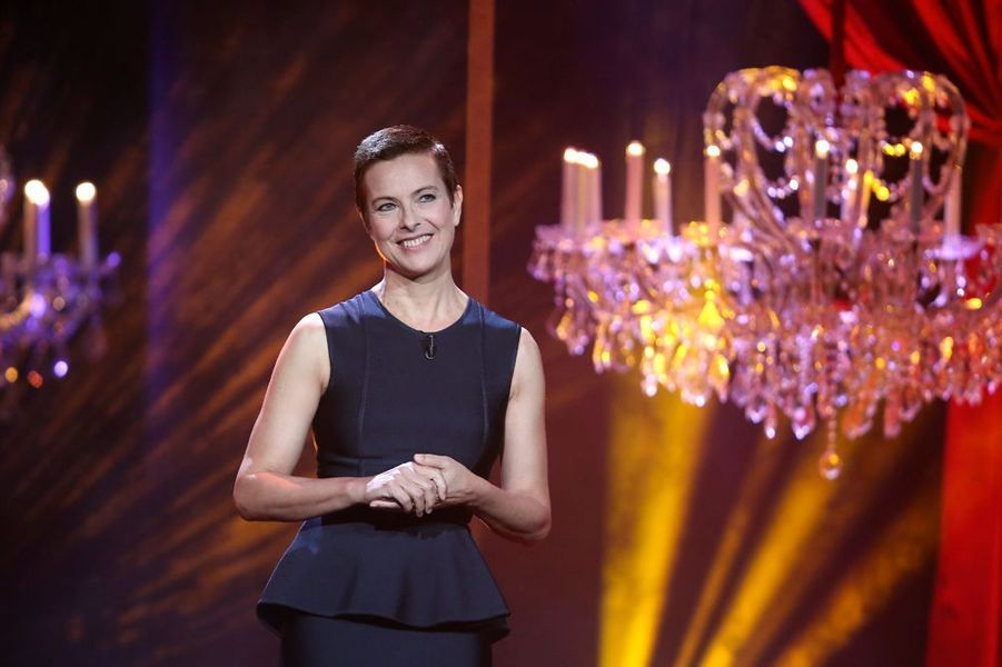 Carole Bouquet durant le spectacle