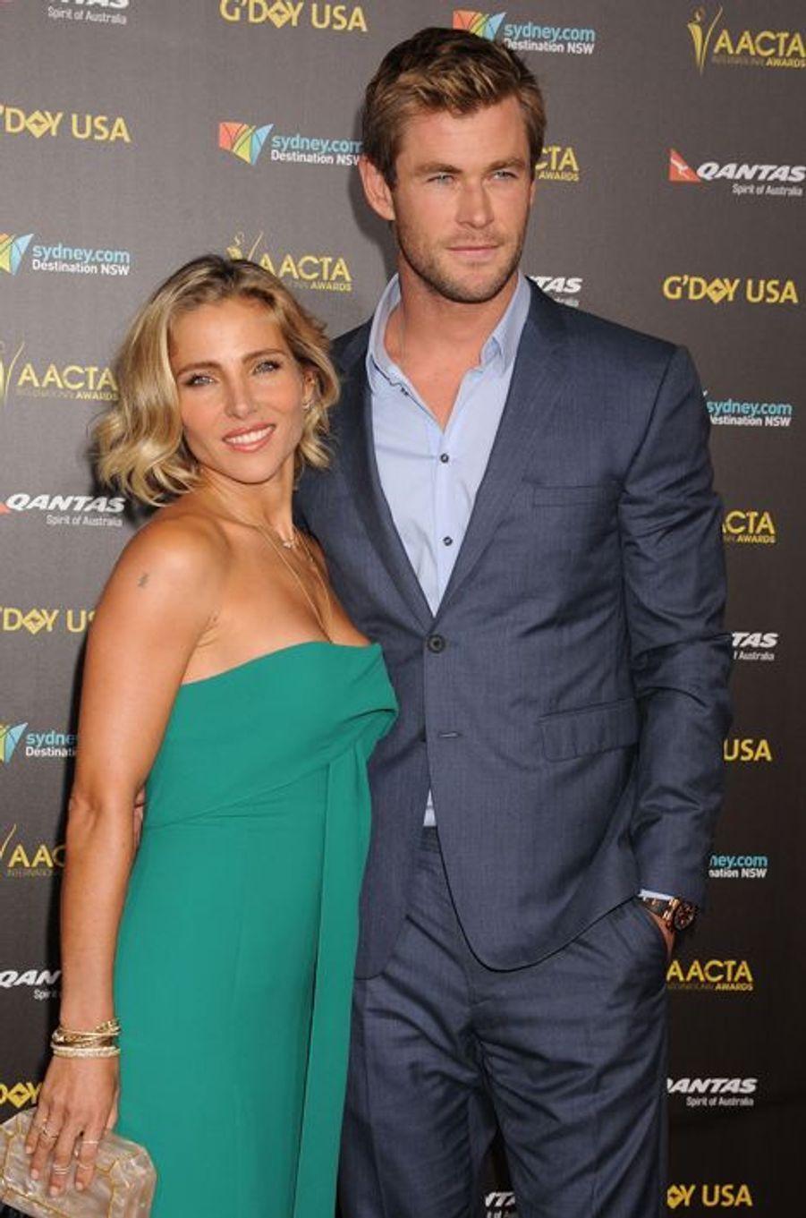 Elsa Pataky et Chris Hemsworth à Los Angeles le 31 janvier 2015
