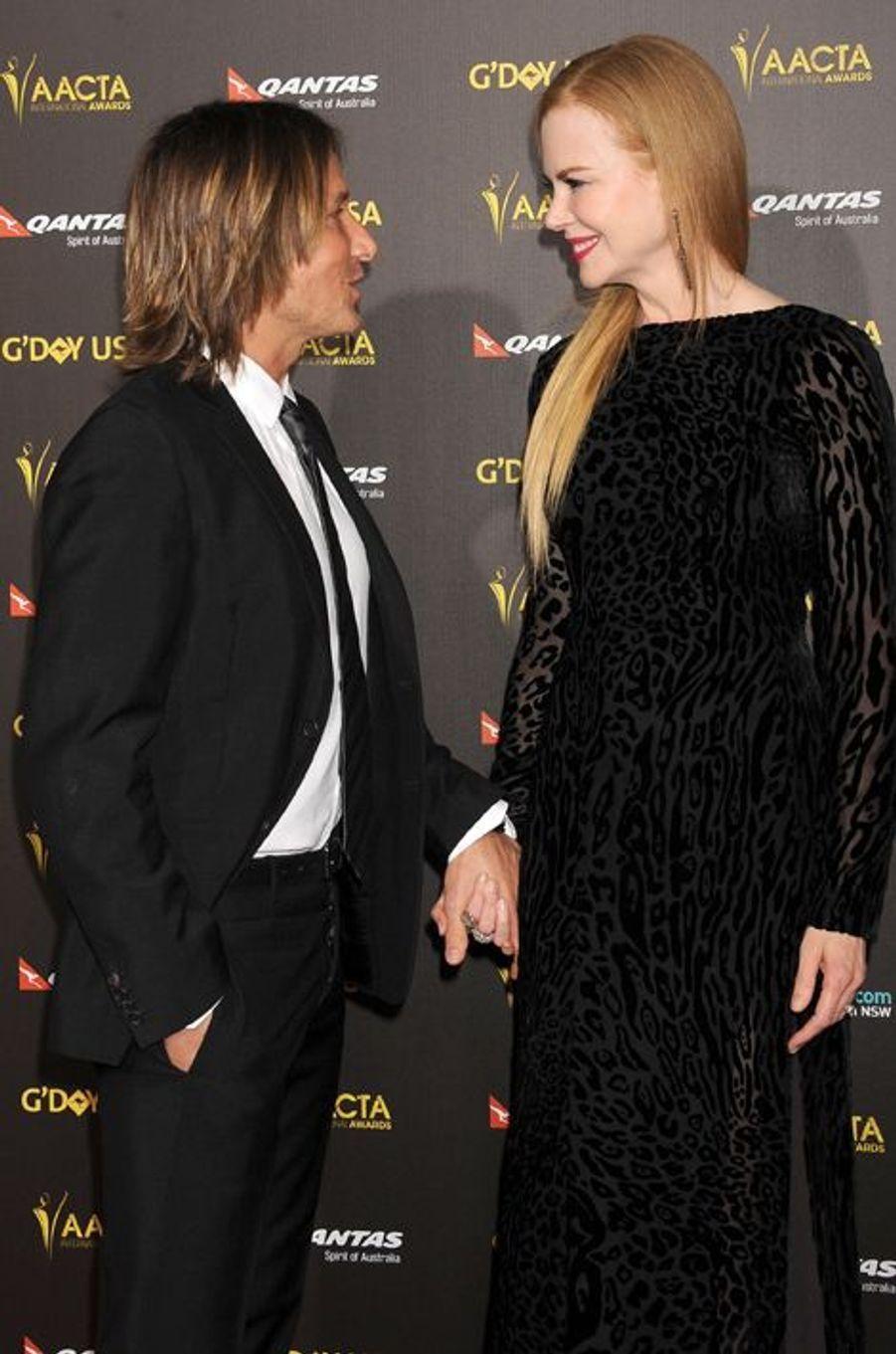 Keith Urban et Nicole Kidman à Los Angeles le 31 janvier 2015