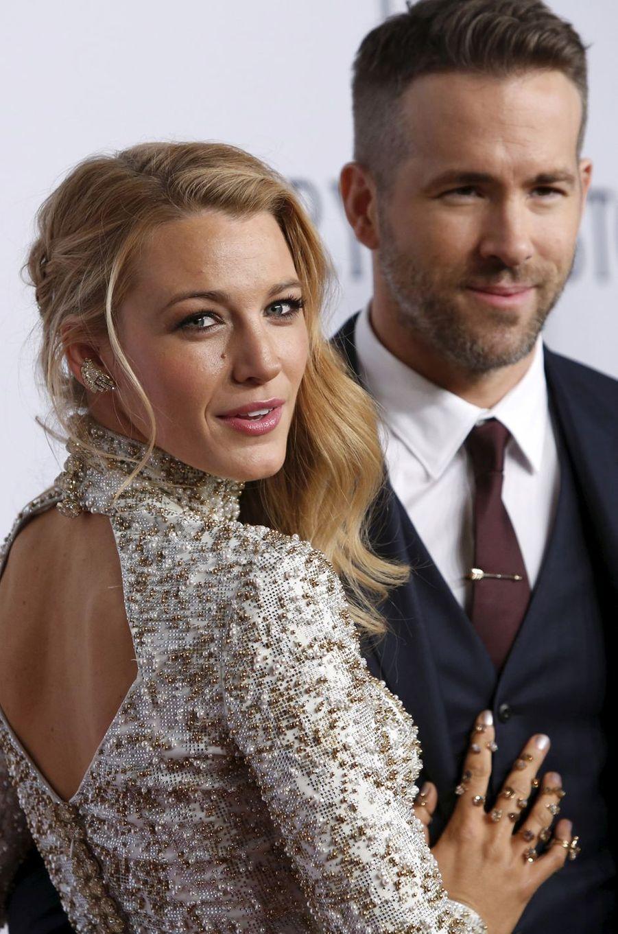 Blake Lively et Ryan Reynolds à New York le 10 février 2016