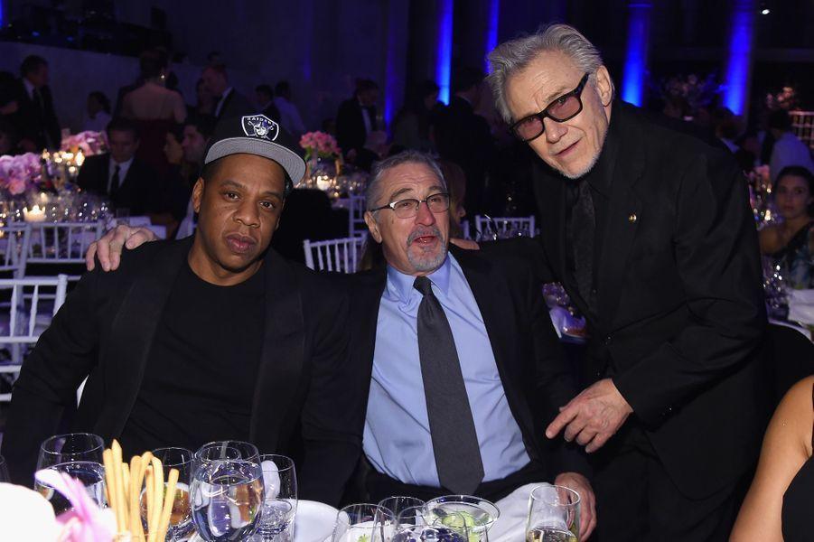 Jay Z, Robert de Niro et Harvey Keitel à New York le 10 février 2016