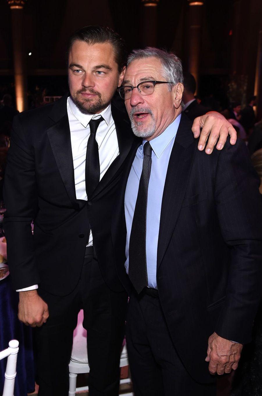 Leonardo DiCaprio et Robert de Niro à New York le 10 février 2016