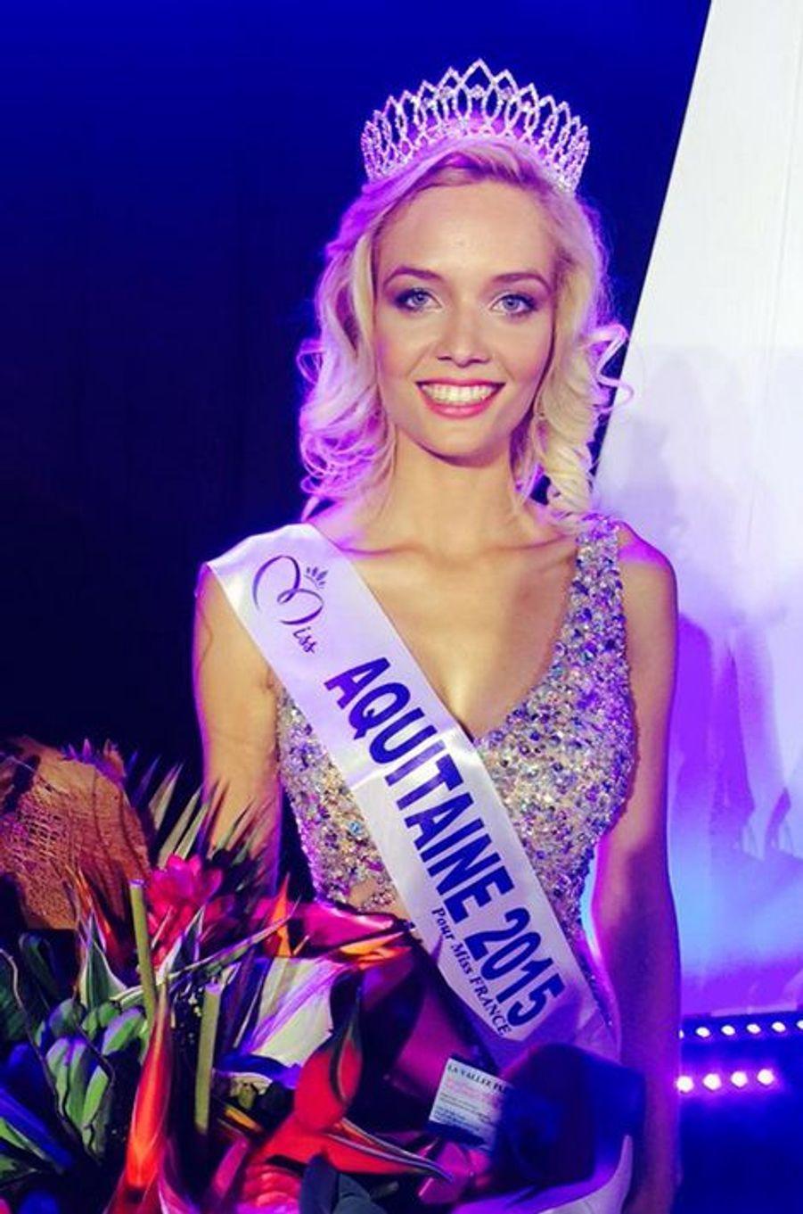 Miss Aquitaine - Gennifer Demey (22 ans - 1,71 m) - Étudiante en ostéopathie