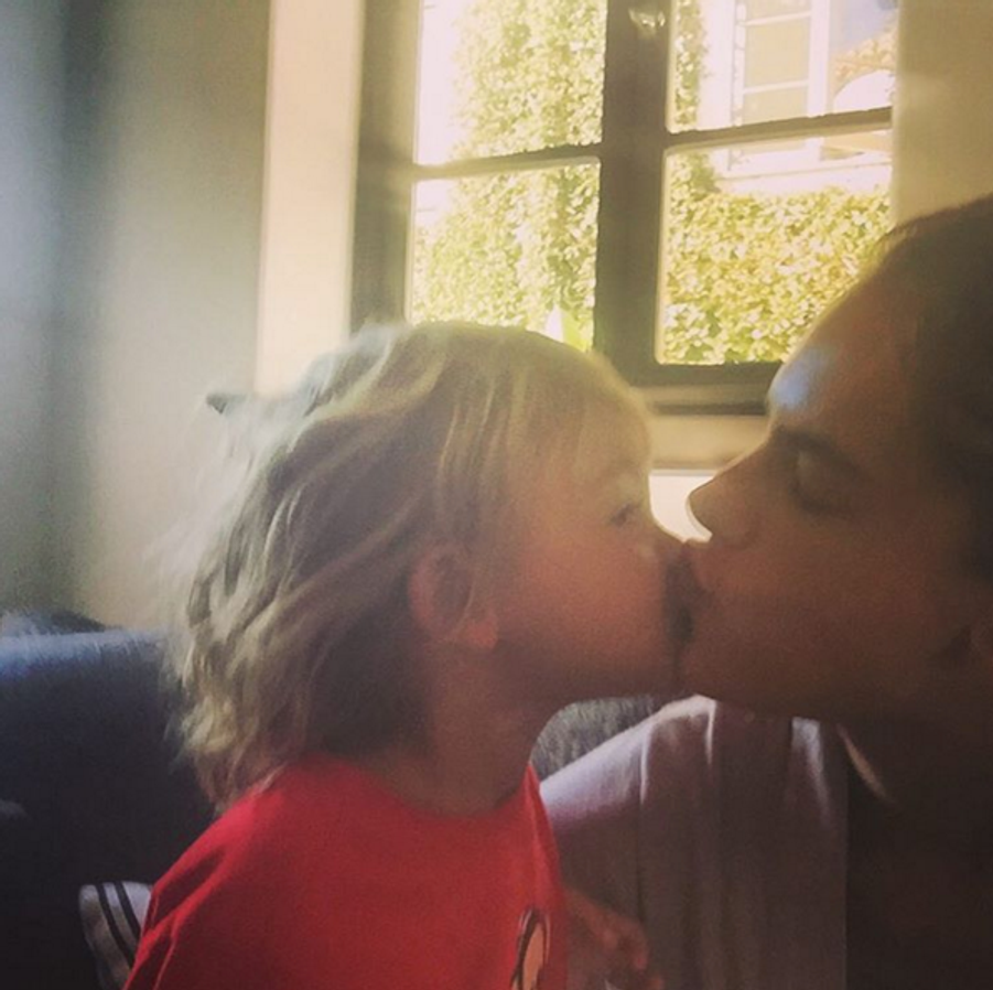 Alessandra Ambrosio et son fils Noah