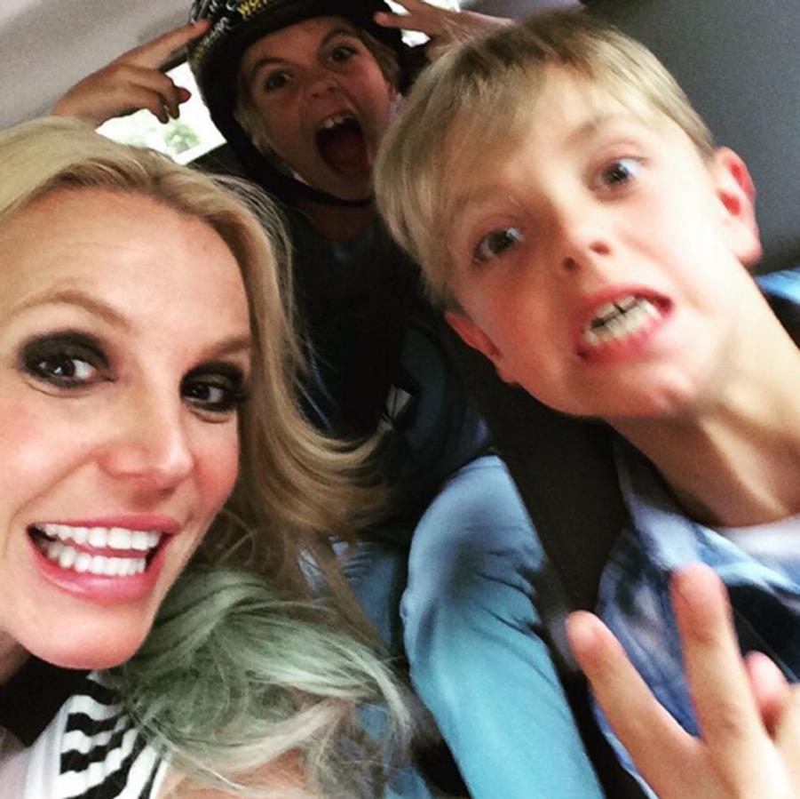 Britney Spears et ses fils, Jayden et Sean