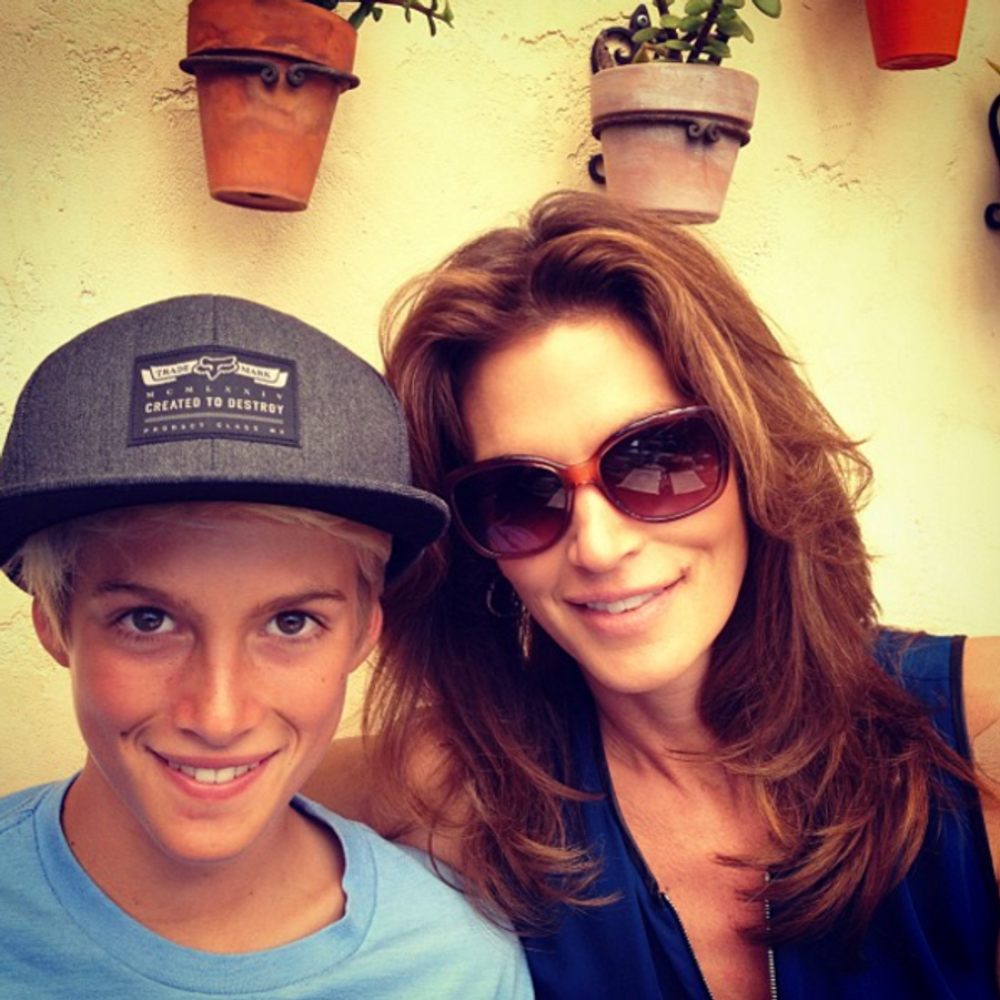 Cindy Crawford et son fils Presley