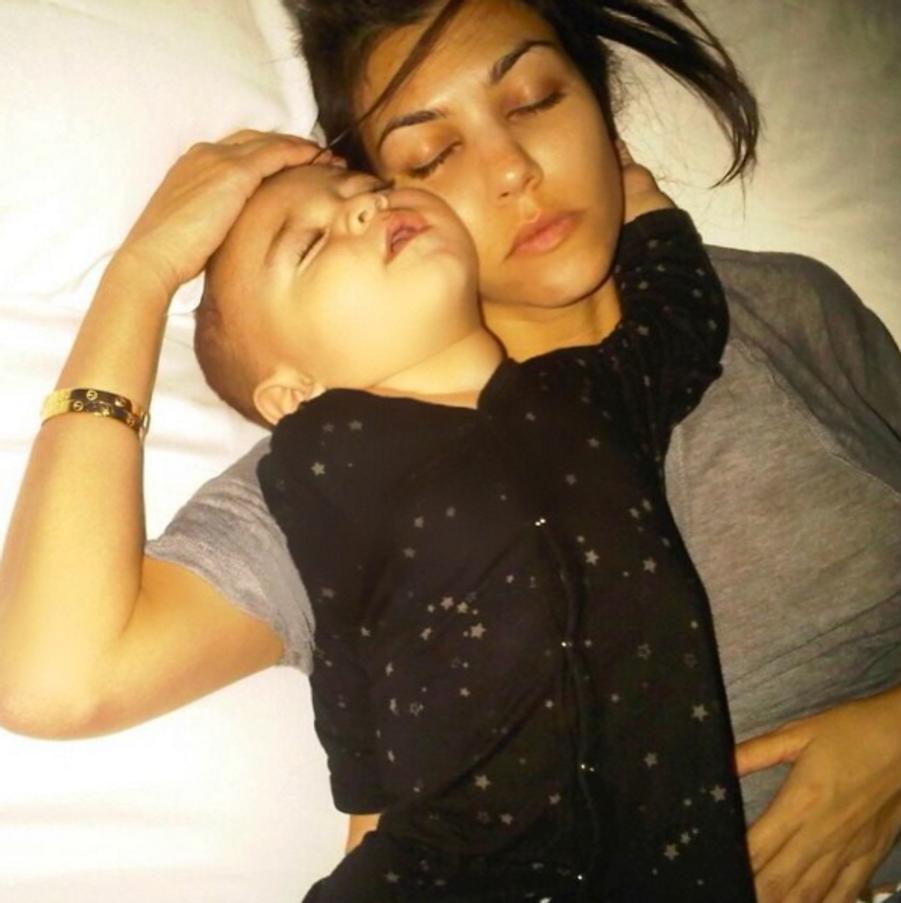 Kourtney Kardashian et son fils Mason (aujourd'hui âgé de 5 ans)