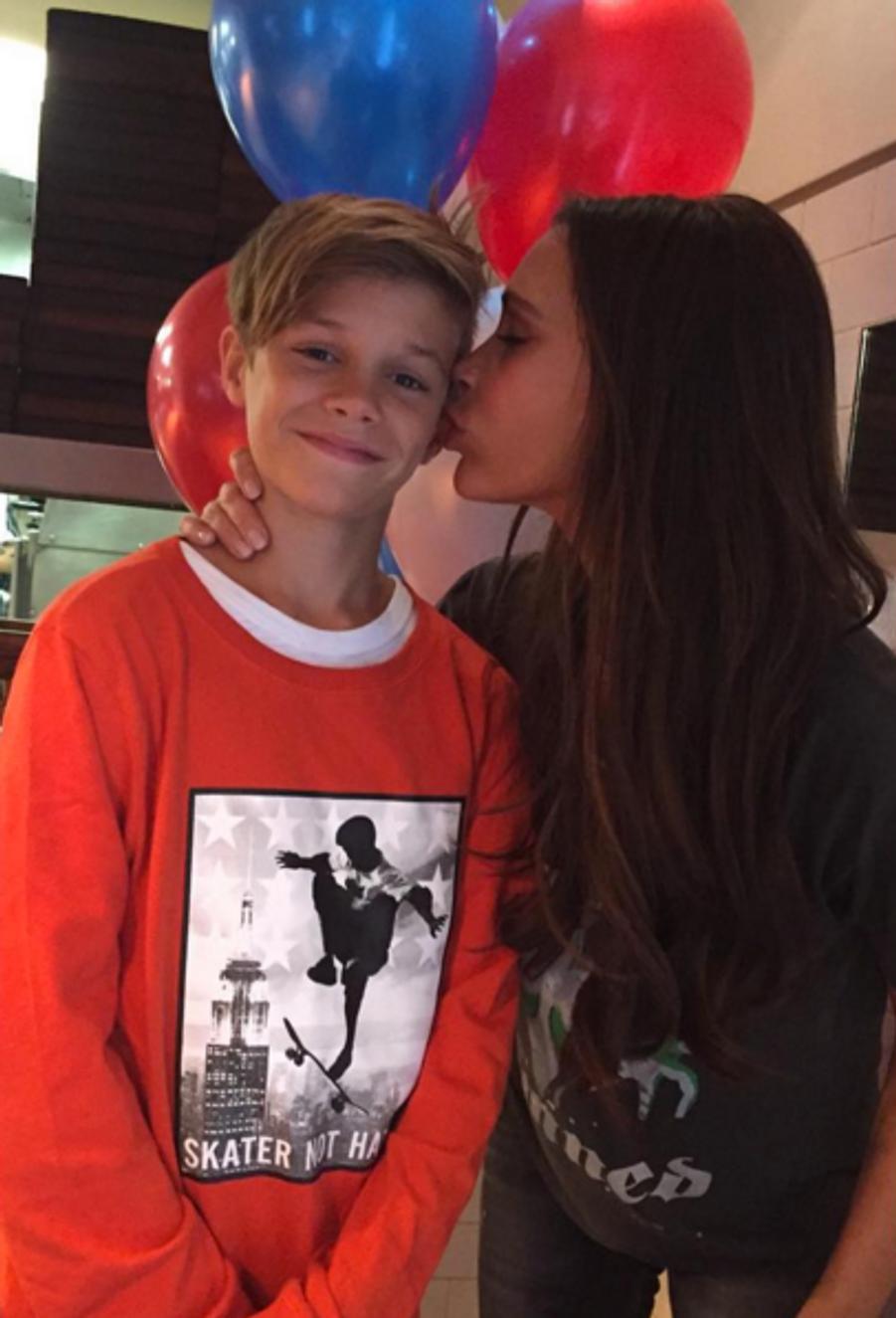Victoria Beckham et son fils Romeo