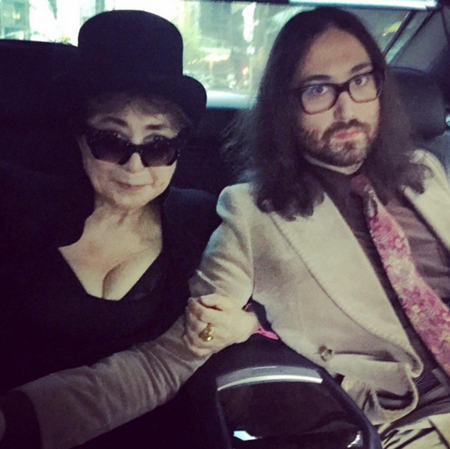Yoko Ono et son fils Sean Lennon