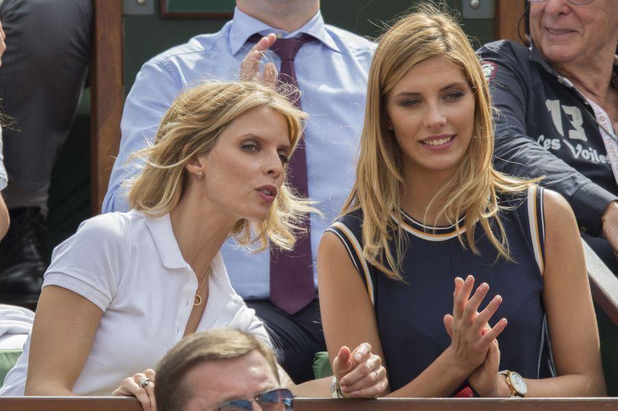 Roland-Garros avec Sylvie Tellier en juin 2015