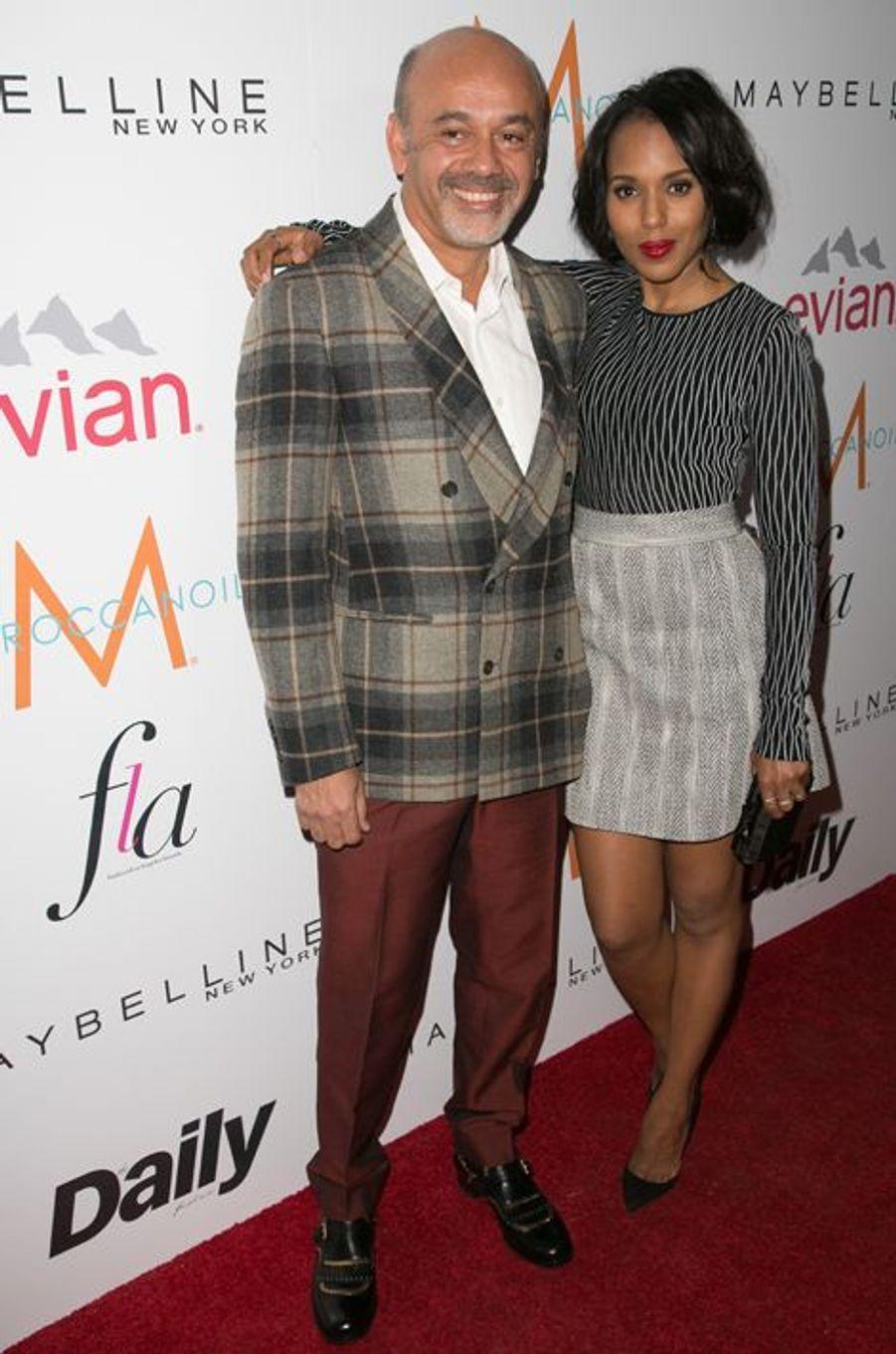 Christian Louboutin et sa compagne d'un soir, Kerry Washington