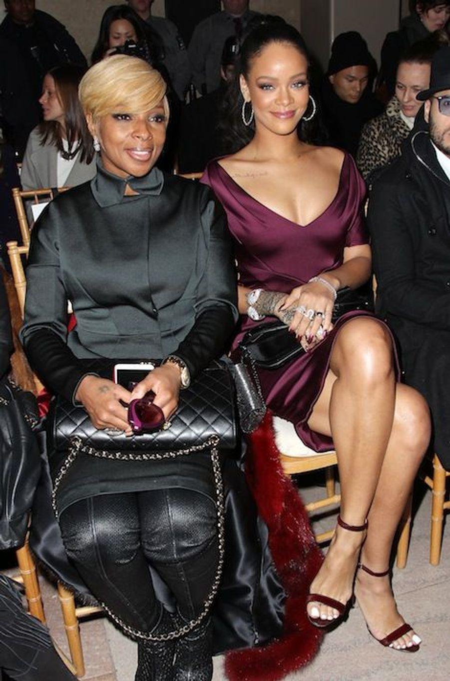 Mary J. Blige et Rihanna au défilé Zac Posen
