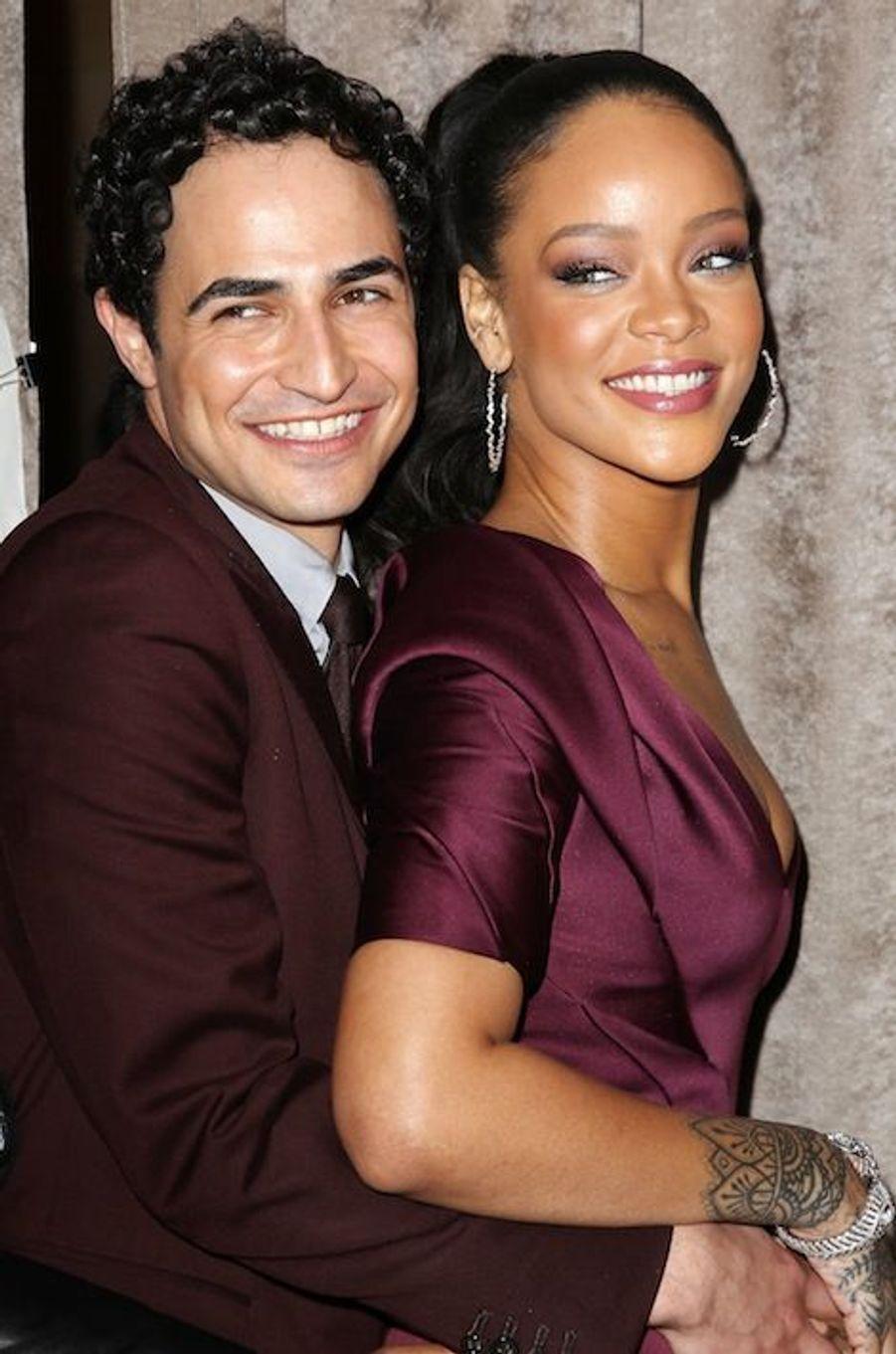 Rihanna et Zac Posen à la Fashion Week de New York