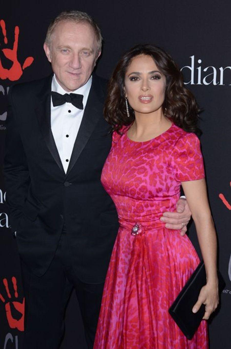 François-Henri Pinault et Salma Hayek à Los Angeles le 11 décembre 2014