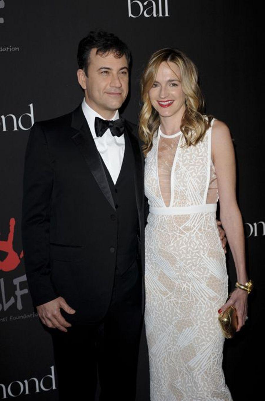 Jimmy Kimmel et son épouse, Molly McNearney, à Los Angeles le 11 décembre 2014