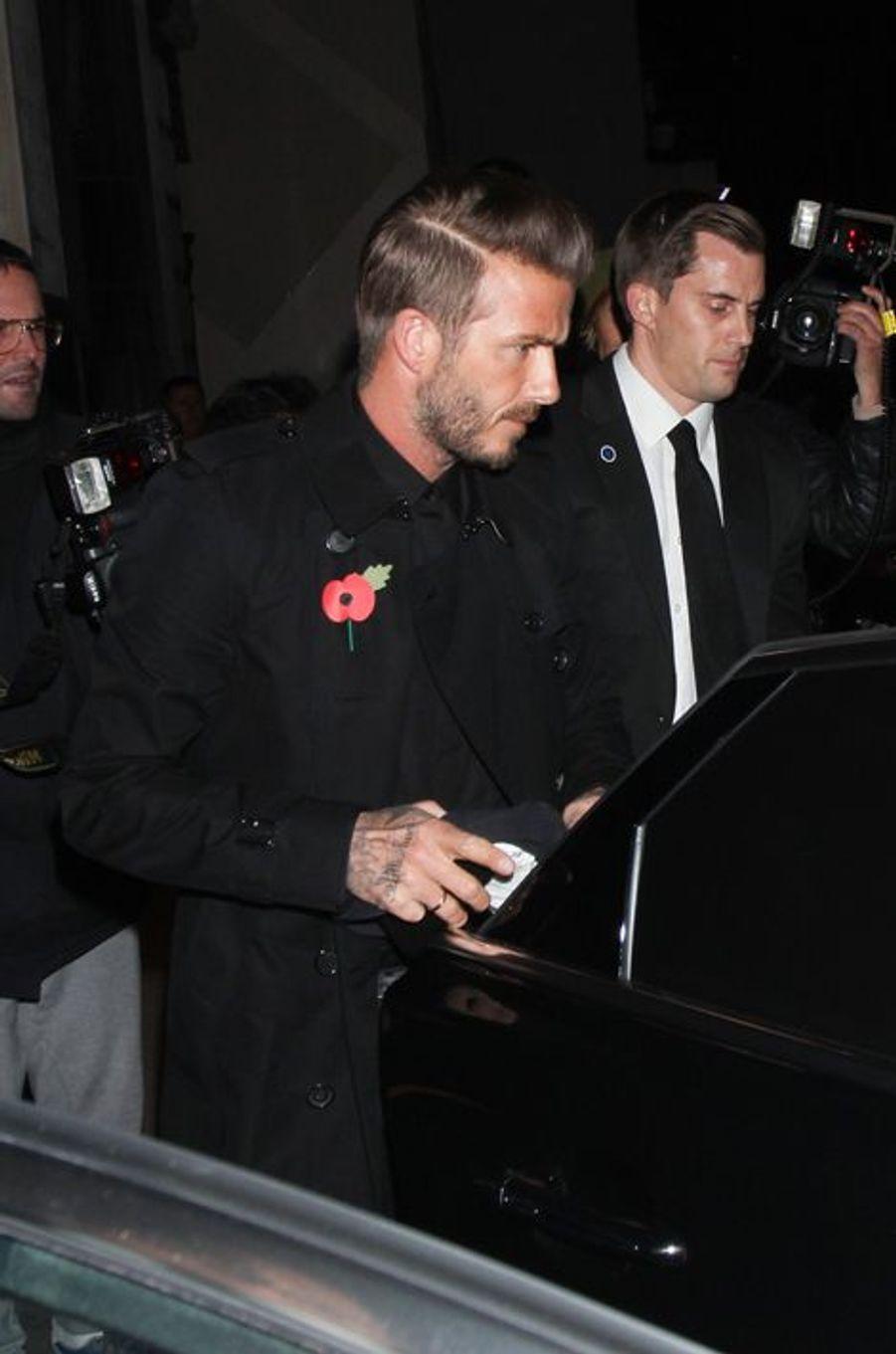 David Beckham le 3 novembre à Londres