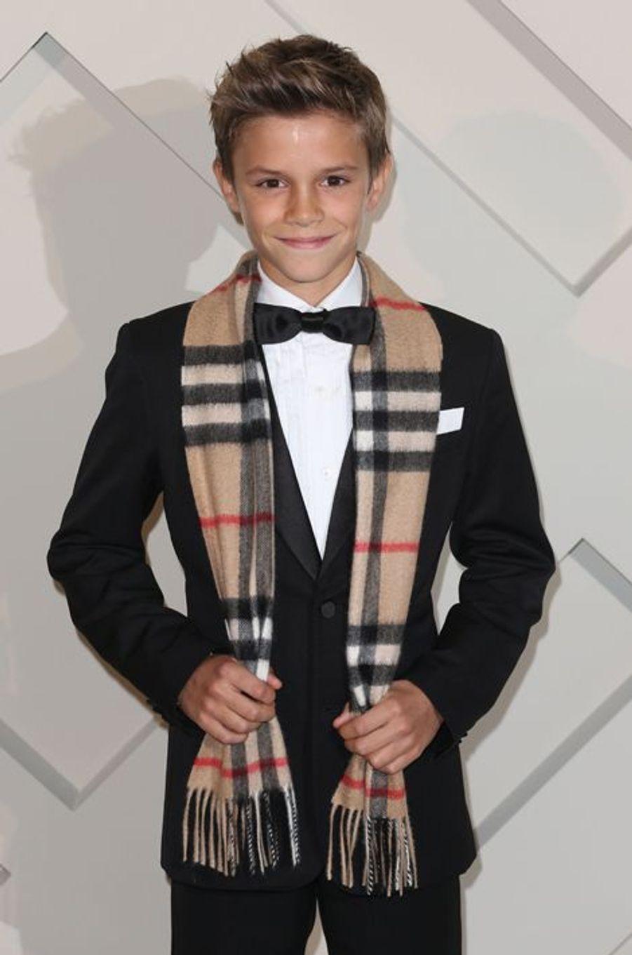 Romeo Beckham le 3 novembre à Londres