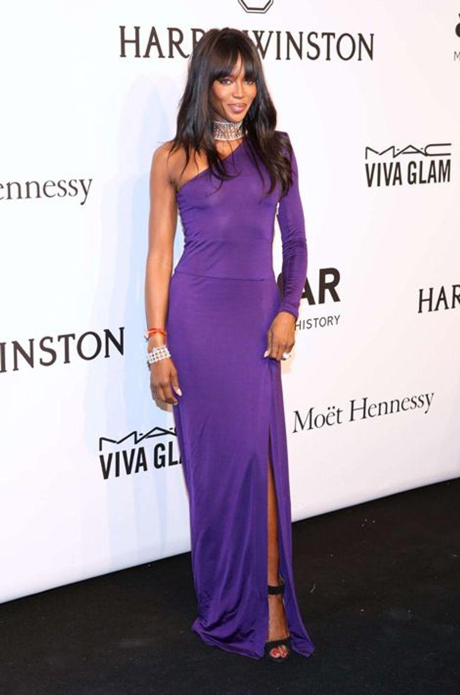 Naomi Campbell au gala de l'amfAR