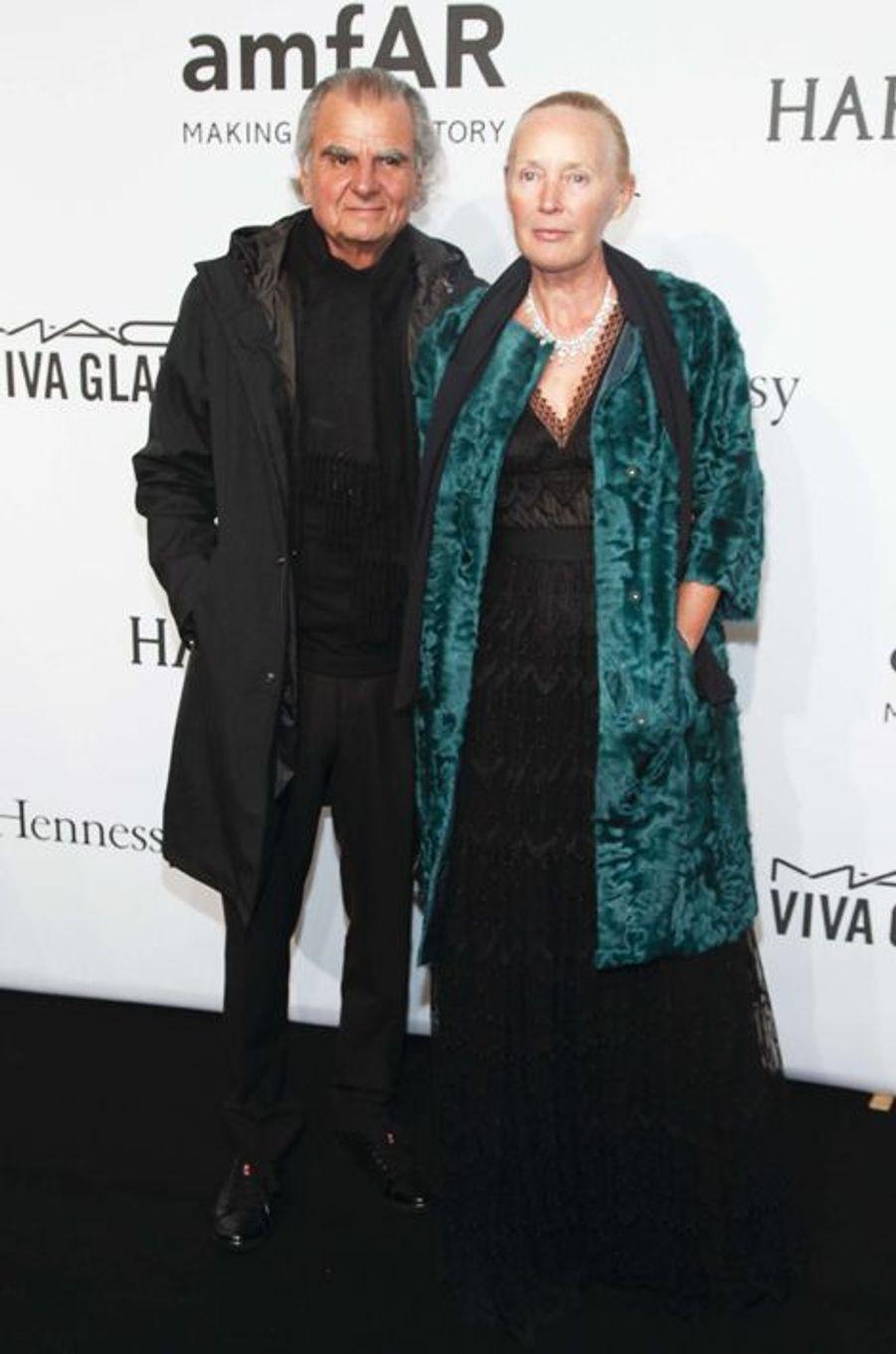 Patrick Demarchelier et sa compagne au gala de l'amfAR