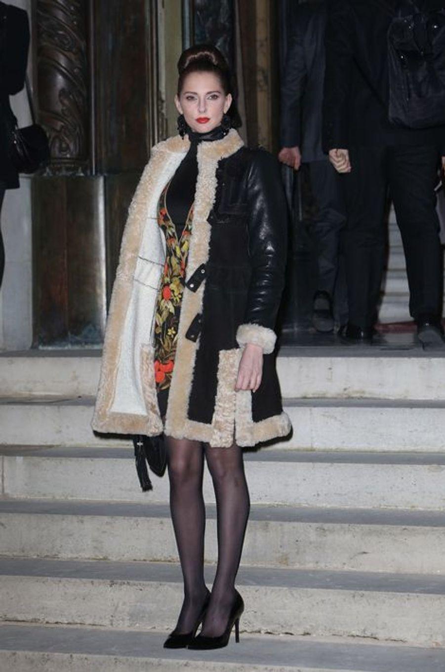 La française Frédérique Bel au défilé Versace Couture