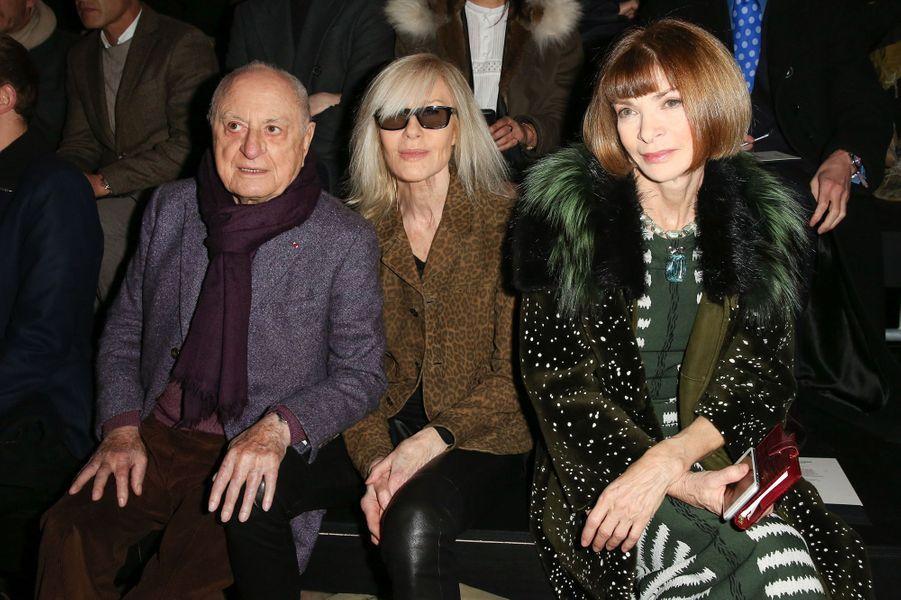 Pierre Bergé, Betty Catroux et Anna Wintour