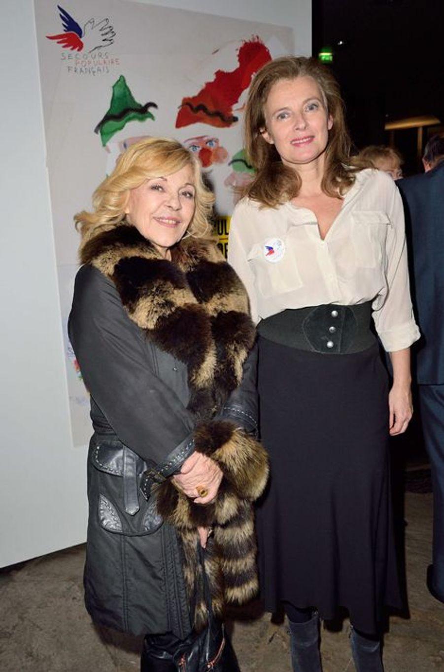 Nicoletta et Valérie Trierweiler à Paris le 8 décembre 2014