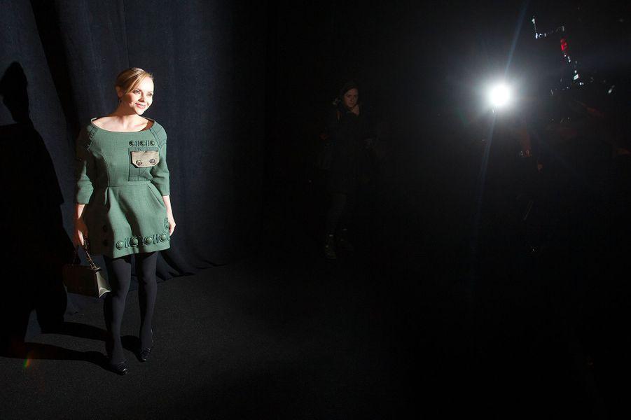Christina Ricci au défilé Marc Jacobs