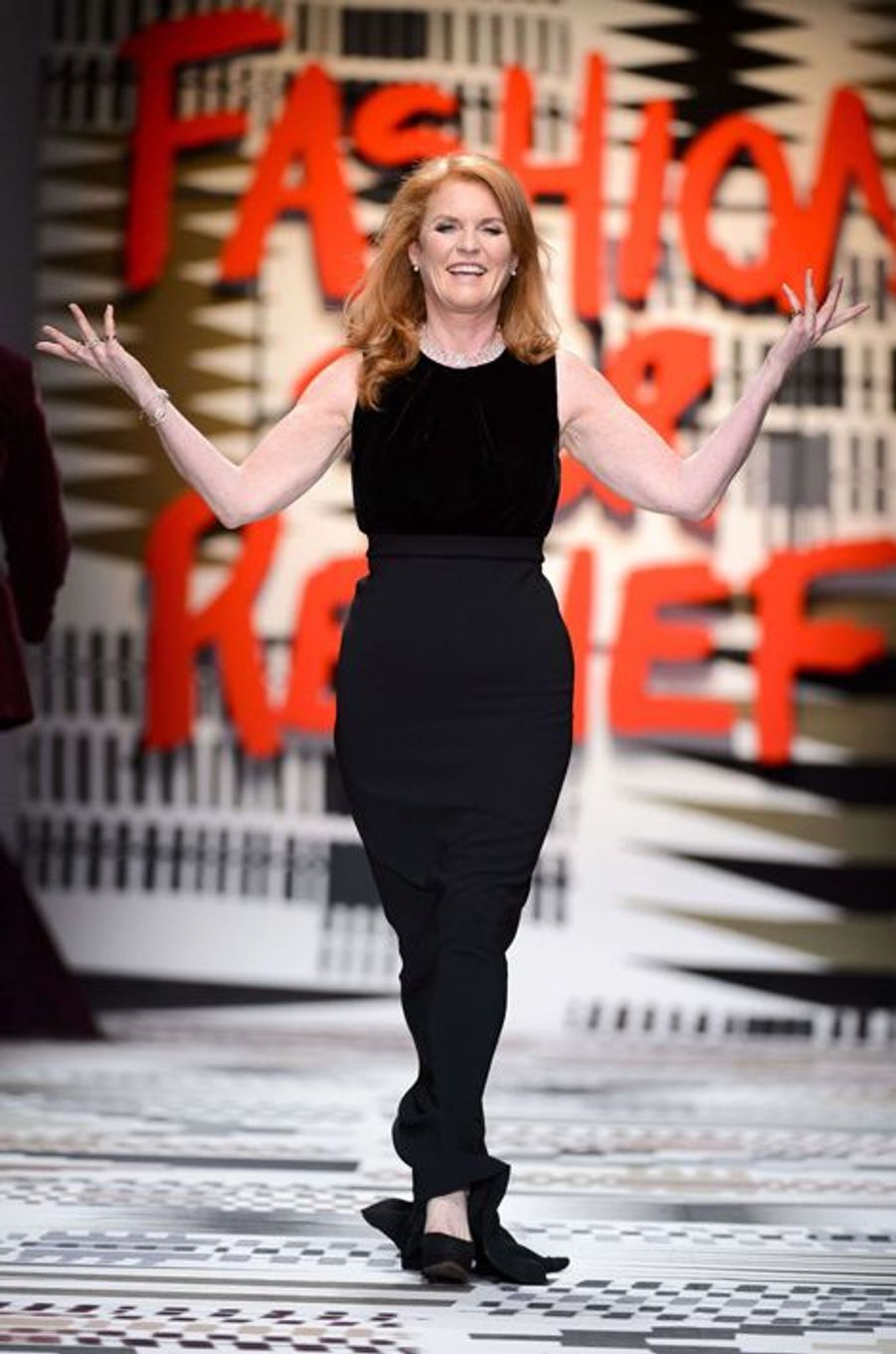 """Sarah Ferguson défile pour """"Fashion for Relief"""""""