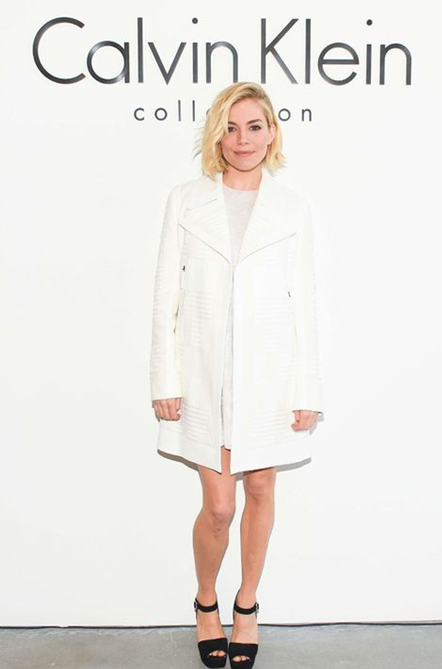 Sienna Miller au défilé Calvin Klein