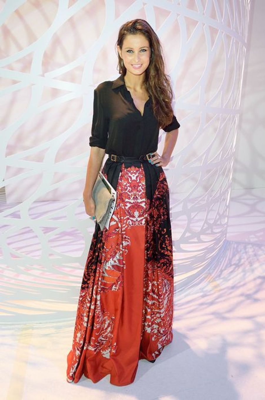Malika Ménard au défilé Zuhair Murad à la Paris Fashion Week 2014.