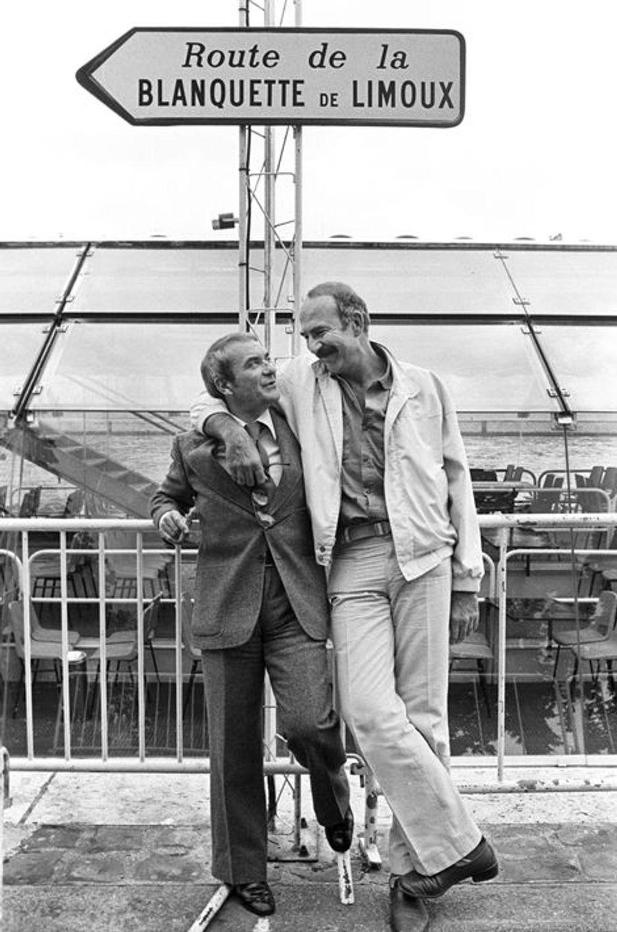Août 1977. Tournage du film «Plus ça va moins ça va» de Michel Vianey. Ce sont des retrouvailles pour Jean-Pierre Marielle et Jean Carmet, ils ont déjà tourné 3 fois ensemble et une grande complicité les unis .
