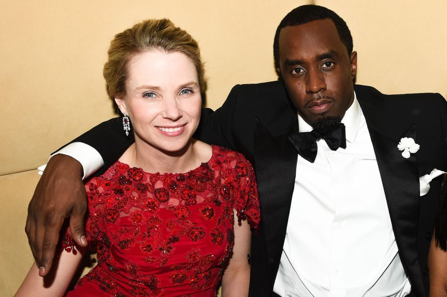 "Marissa Mayer et Sean ""Diddy"" Combs"