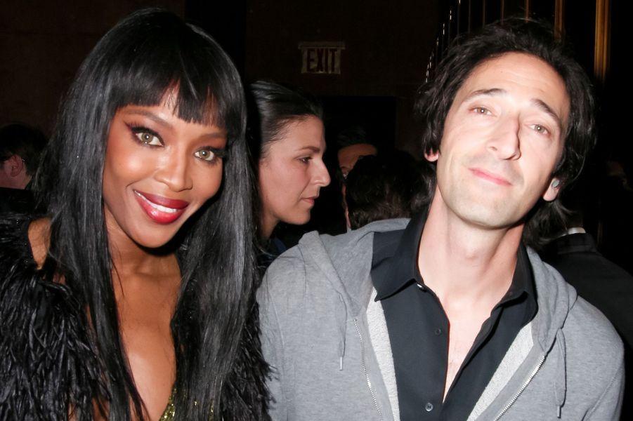 Naomi Campbell et Adrien Brody