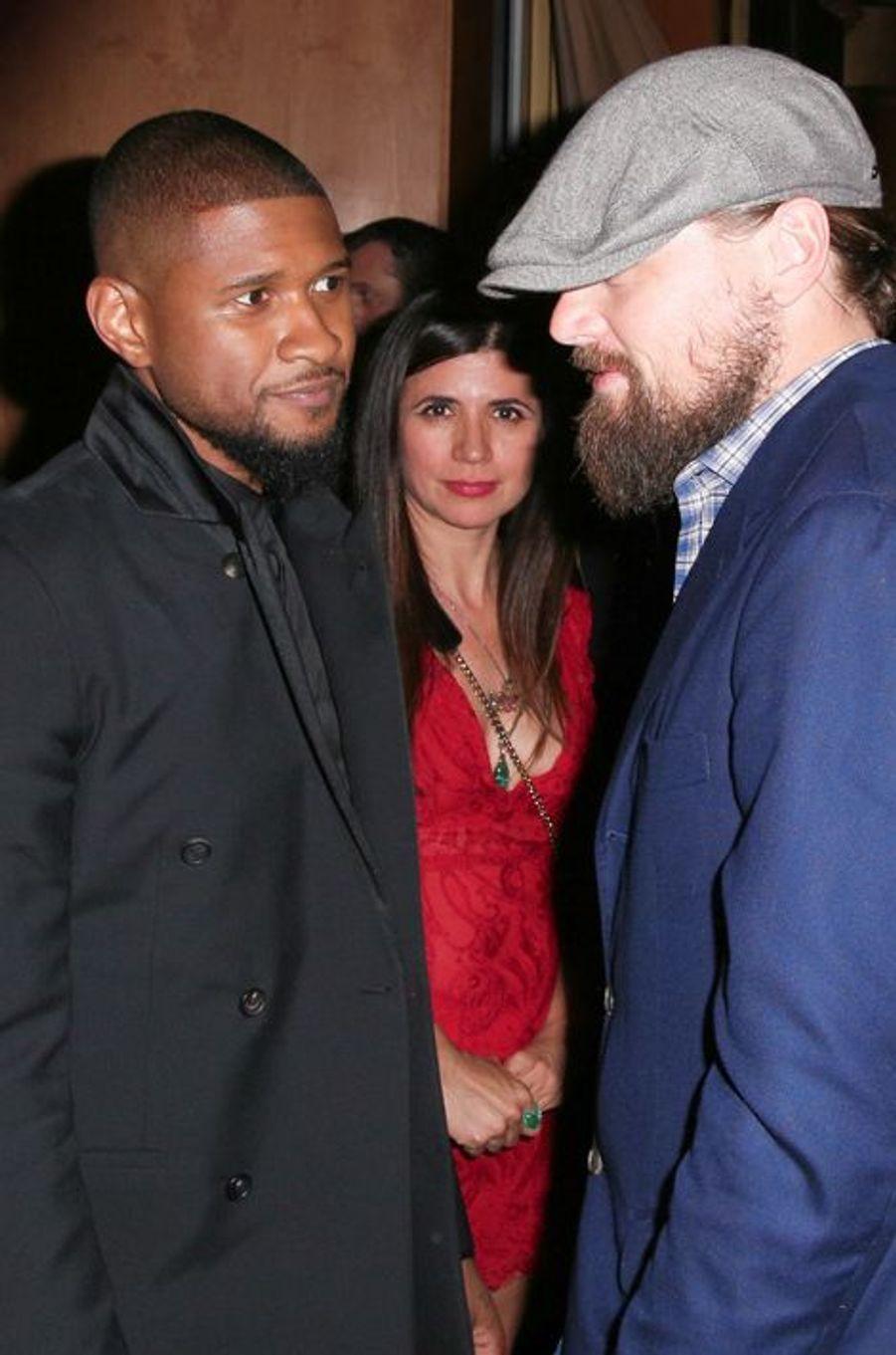 Usher et Leonardo DiCaprio