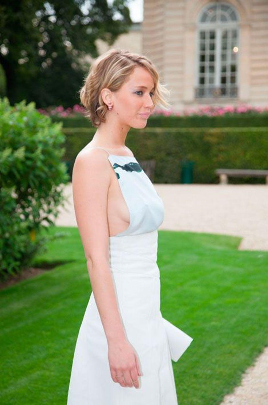 Jennifer Lawrence avant le défilé Dior