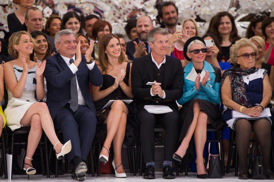 Jennifer Lawrence, Emma Watson et Bernadette Chirac chez Dior