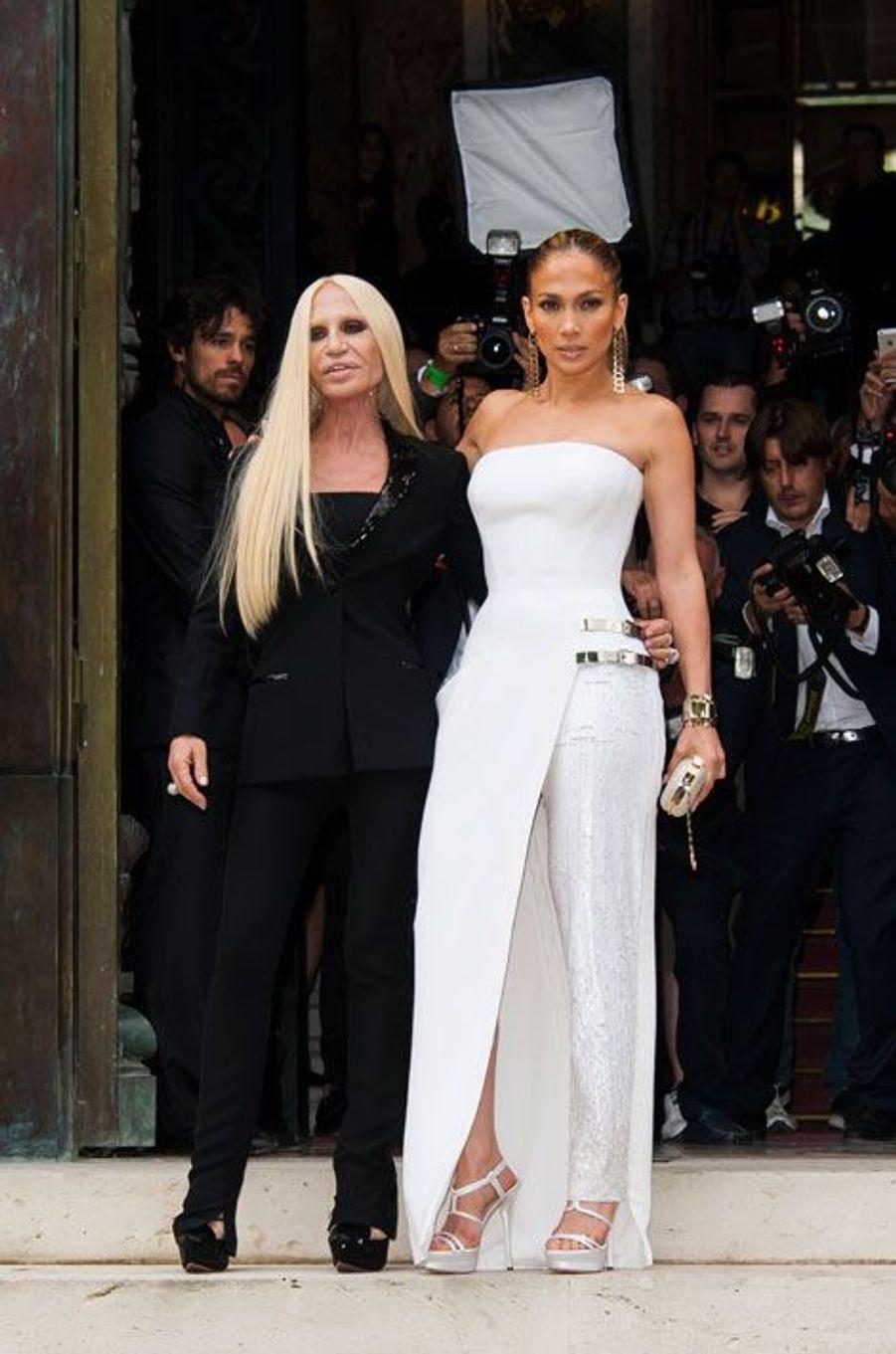 Jennifer Lopez et Donatella Versace