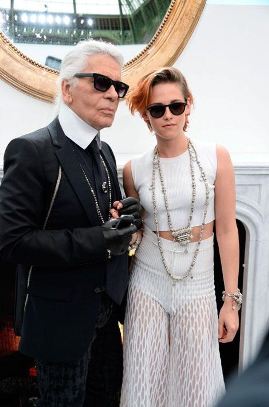 Karl Lagerfeld et Kristen Stewart