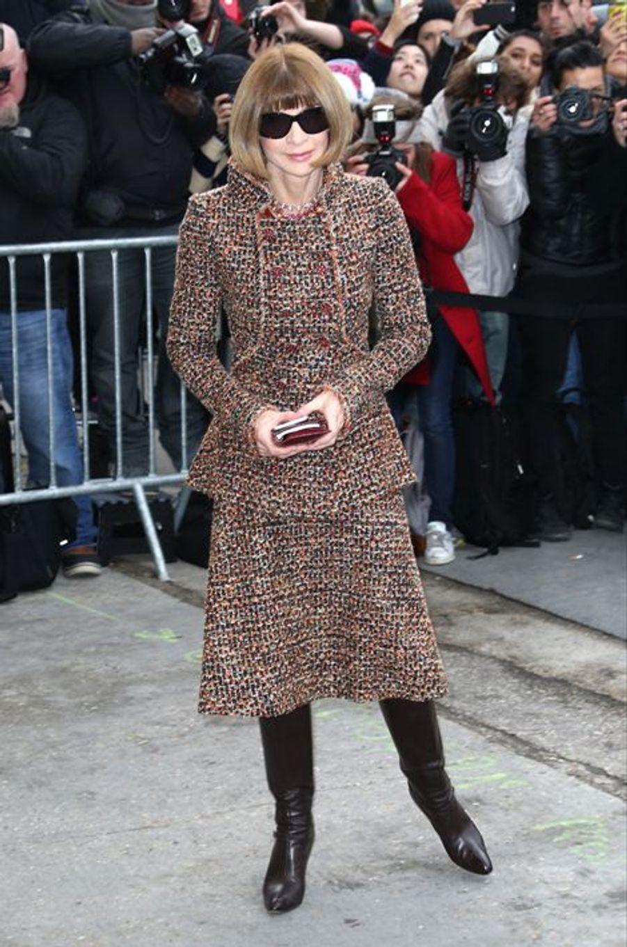 Anna Wintour au défilé Chanel Haute-Couture