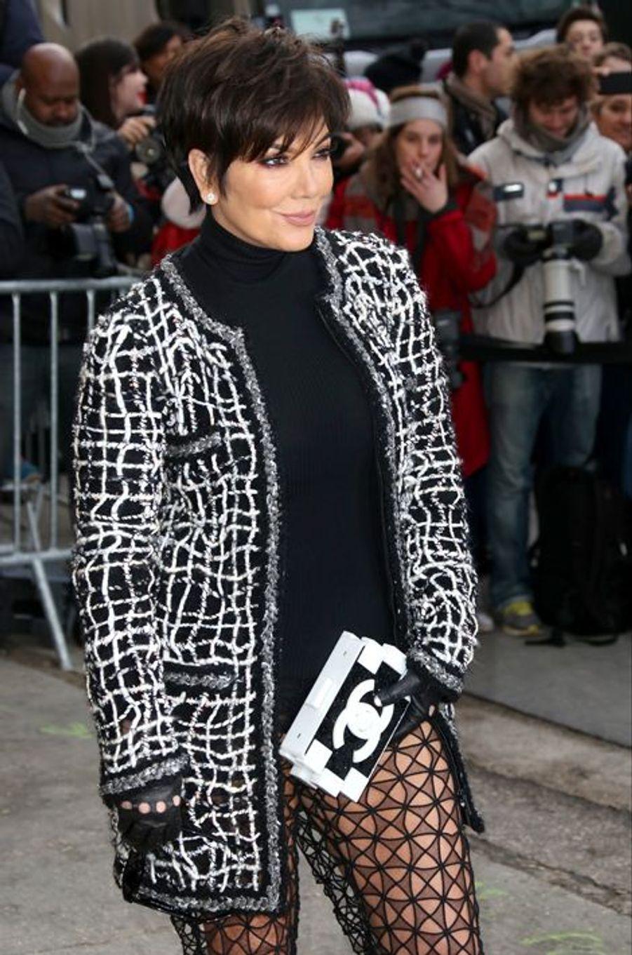 Kris Jenner au défilé Chanel Haute-Couture