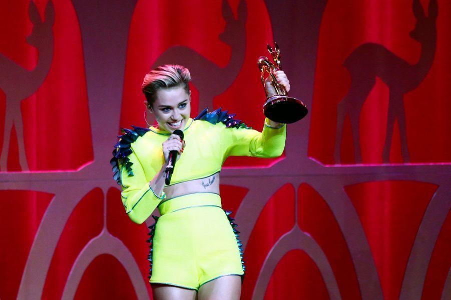Miley Cyrus a remporté le Bambi de l'artiste pop de l'année.