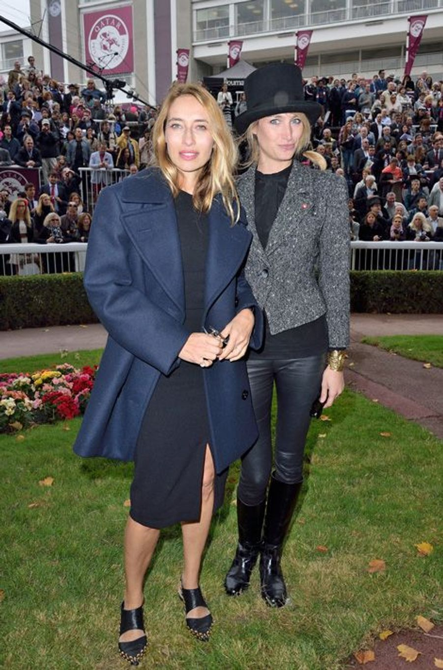 Alexandra Golovanoff et Pauline Lefebvre au prix Qatar Arc de Triomphe