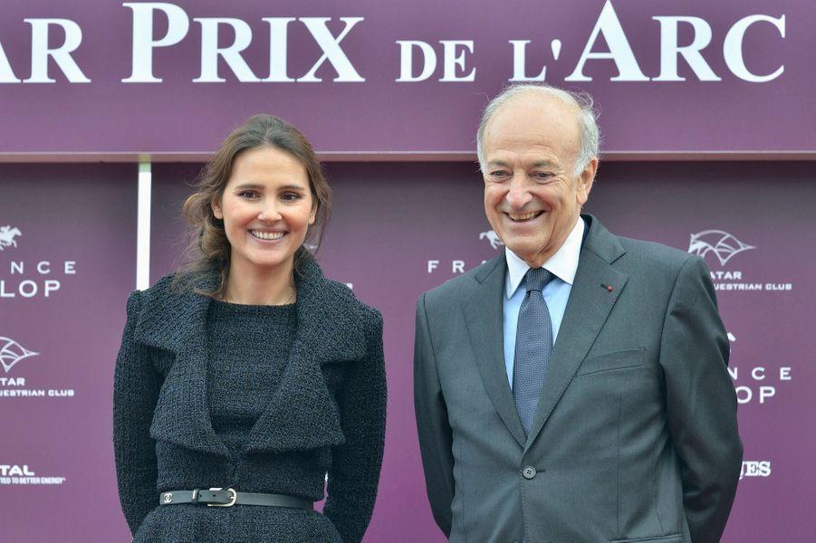 Virginie Ledoyen au prix Qatar Arc de Triomphe