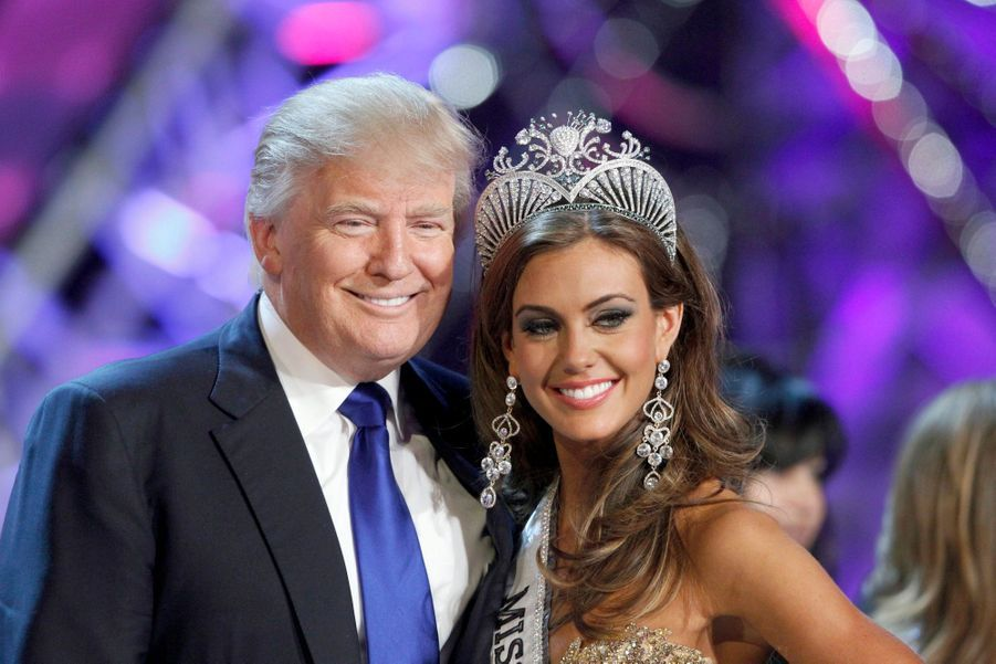 Avec Donald Trump, le vice-président du comité de Miss Univers