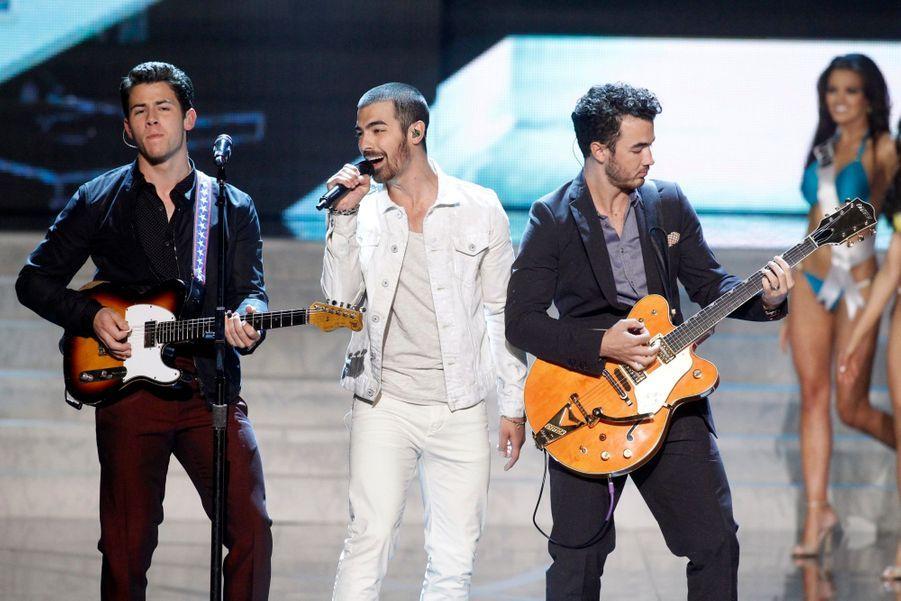 Les Jonas Brothers sur scène